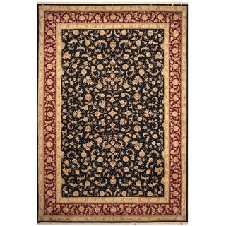 Handmade Tabriz Wool and Silk Rug (India) - 10' x 14'4