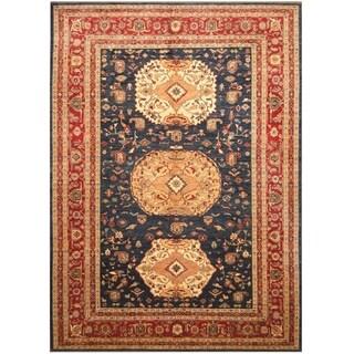 Handmade Vegetable Dye Kazak Wool Rug (Afghanistan) - 10' x 14'3