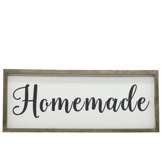 UTC26504: Wood Rectangle Wall Art with Sage Color Frame and Metal Back Hangers Painted Finish White