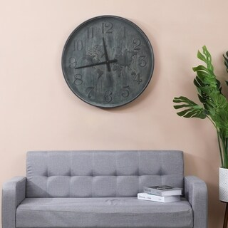 Around the World Metal 27.95in. Wall Clock