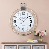 31.5in. Dia. Wood and Metal Wall Clock