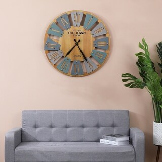 Link to 23.6in. Dia. MDF Windmill Wall Clock Similar Items in Decorative Accessories
