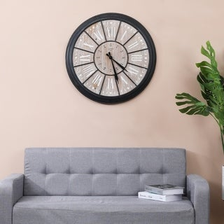 The Gray Barn Jartop Farmhouse Iron Wall Clock - MDF, iron
