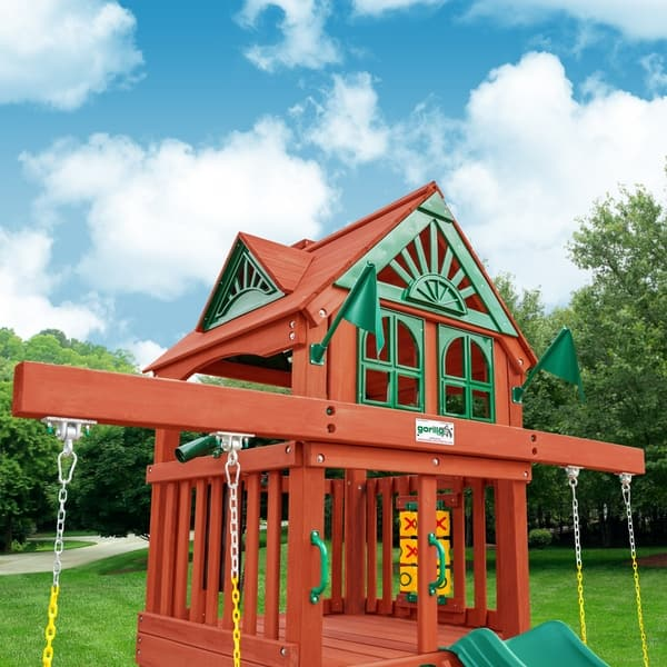 Shop Gorilla Playsets Five Star Ii Space Saver Wooden Swing