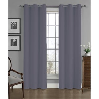Carter Crushed Solid Window Panel Pair (Graphite)