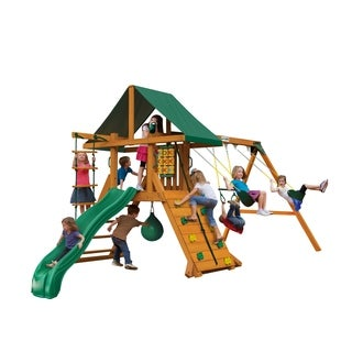 Gorilla Playsets High Point II Wooden Swing Set with Punching Ball