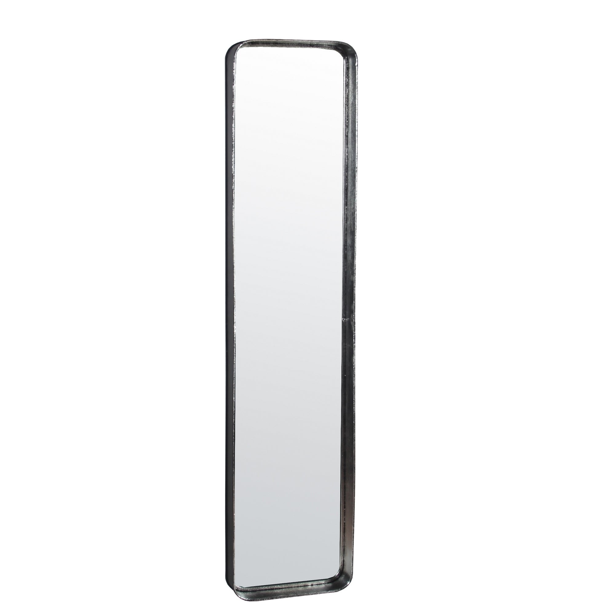 Carbon Loft Silver Round Edge Metal Mirror