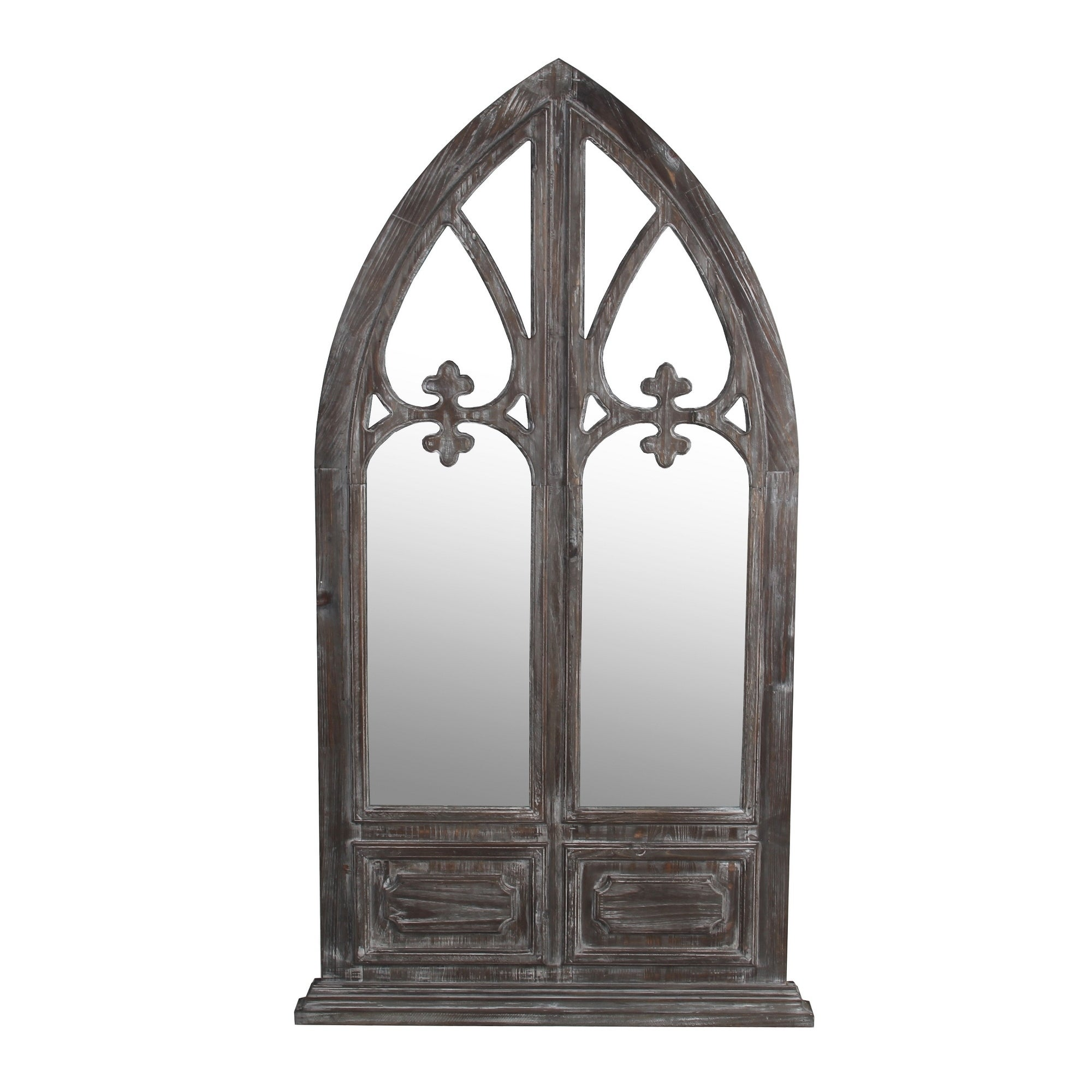 The Gray Barn Handmade Vintage-style Brown Dome Mirror