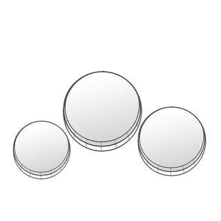 Privilege Set of 3 Metal Wall Mirrors