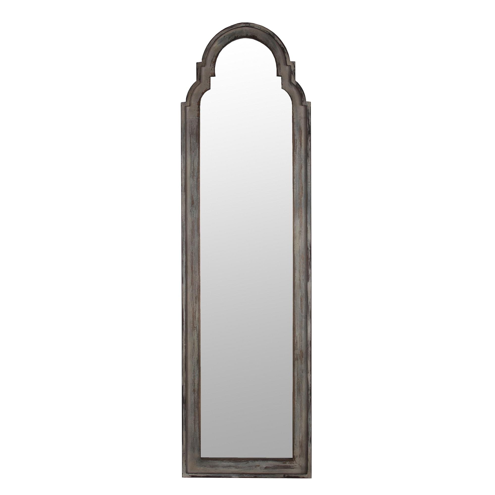 Privilege Wood-framed Full-length Leaner Mirror