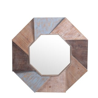 Privilege Octagon Wood Wall Mirror