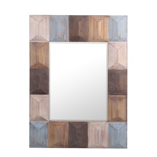 Privilege Rectangular Wood Wall Mirror