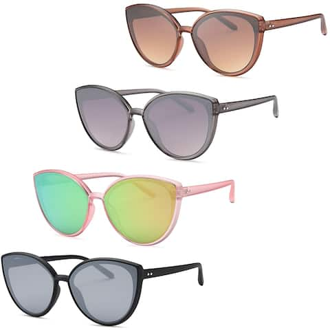 AFONiE Clear Cat Eye Sunglasses - Pack of 4