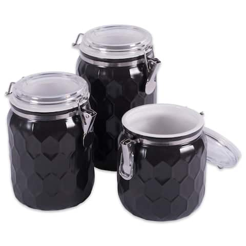 DII Honeycomb Canister with Clamp Lock Lid Set (Set of 3)