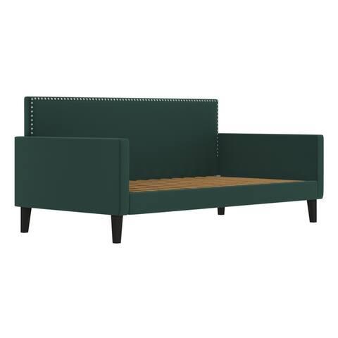Handy Living Upholstered Twin-size Velvet Square Back Daybed