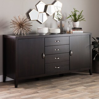 Black buffets sideboards china cabinets shop the best for Furniture of america gelenan industrial cement like multi storage buffet