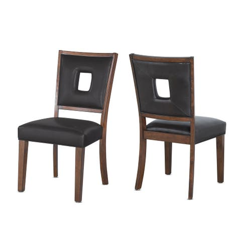 Truxton Modern Keyhole Back Dining Chair by Greyson Living (Set of 2)