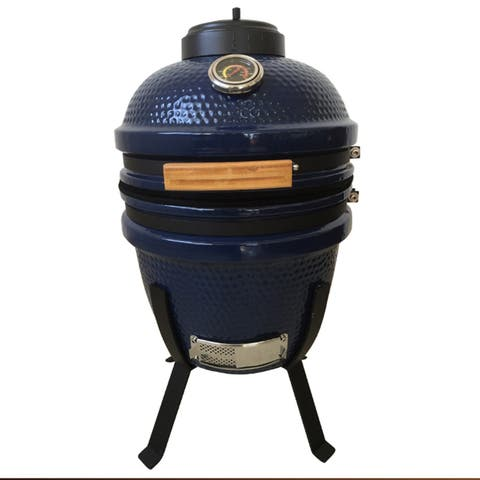 "Lifesmart Deen Brothers Series 15"" Kamado Grill & Smoker w/Value Pack"