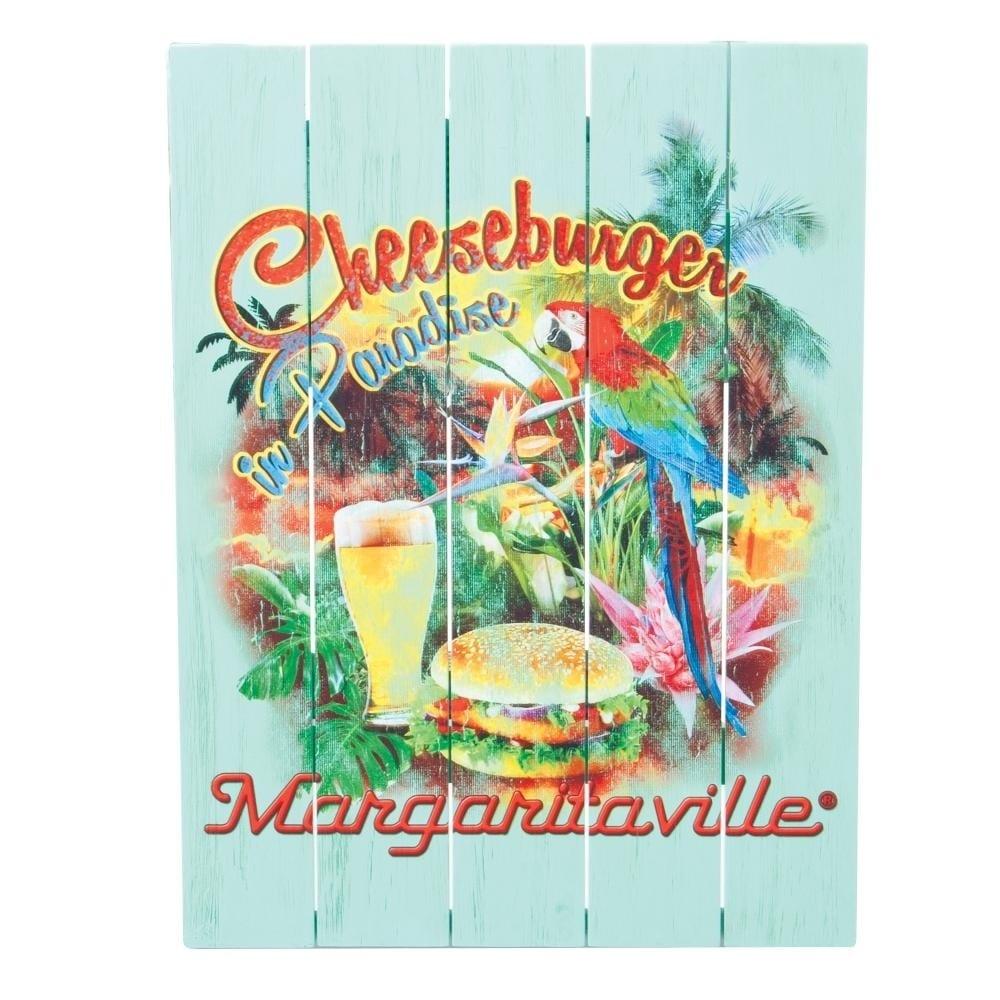 Margaritaville Wall Art - Cheeseburger in Paradise