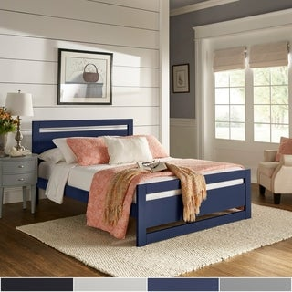 Porch & Den Alvina Rectangular Cut-out Panel Platform Bed