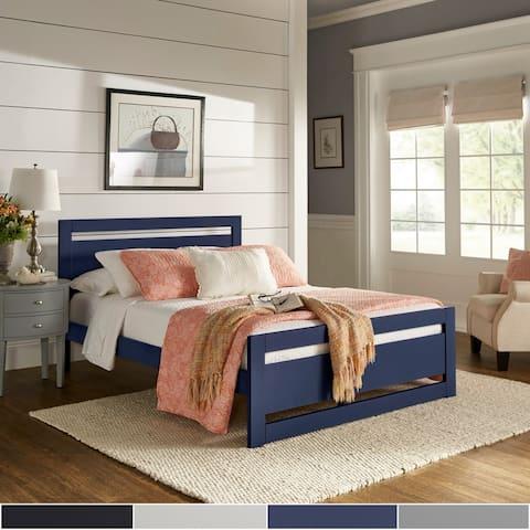 Porch & Den Alvina Rectangular Cut-out Panel Platform Bed