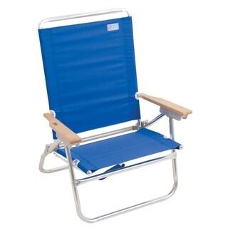 RIO Beach 4-Position Easy In-Easy Out Beach Chair - Blue