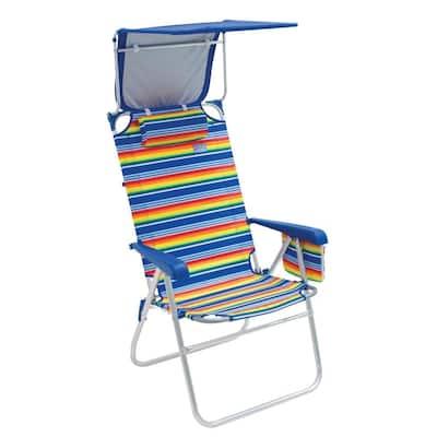 RIO Beach Hi-Boy Beach Chair with Canopy - Stripe