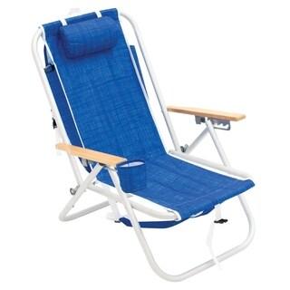 RIO Gear 4-Position Aluminum Backpack Chair - Blue