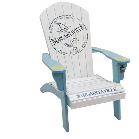 Margaritaville Wood Adirondack Chair - Fins to the Left