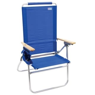RIO Beach Hi Boy Tall Back Beach Chair Blue