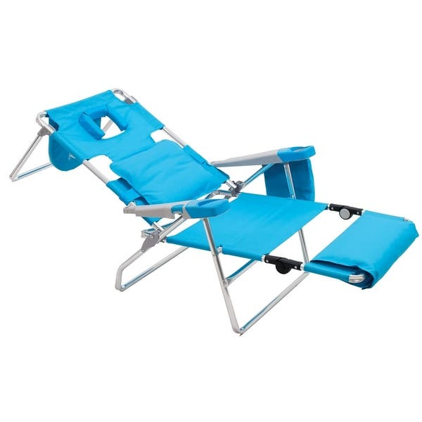 Read Through Beach Lounger Turquoise