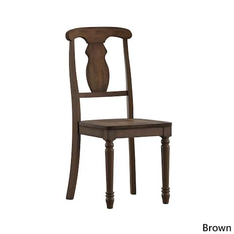 Dawson Reclaimed Wood Napoleon Dining Chair (Set of 2) by iNSPIRE Q Artisan