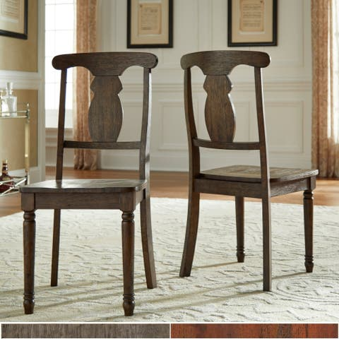 The Gray Barn Culver Creek Reclaimed Wood Napoleon Dining Chair (Set of 2)