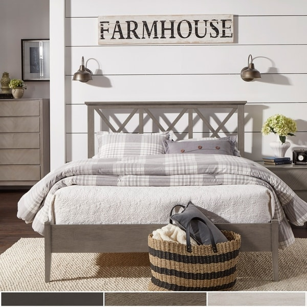 Jeremiah Antique Finish Lattice Pattern Platform Bed by iNSPIRE Q Classic