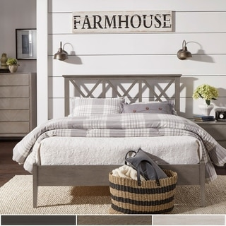 Shop Lattice Queen Size Bed Free Shipping Today