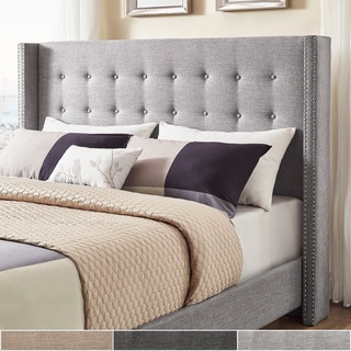 Link to Melina Linen Wingback Headboard by iNSPIRE Q Bold Similar Items in Bedroom Furniture