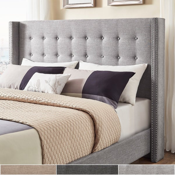Melina Linen Wingback Headboard by iNSPIRE Q Bold. Opens flyout.