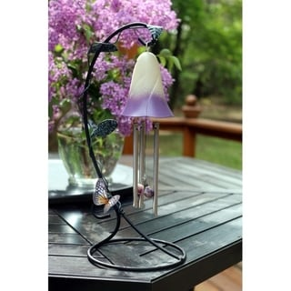 Belle Fleur Solar Powered Indoor Chimes (Purple)
