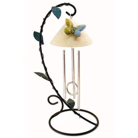 Handmade Butterfly Solar Powered Indoor Chimes