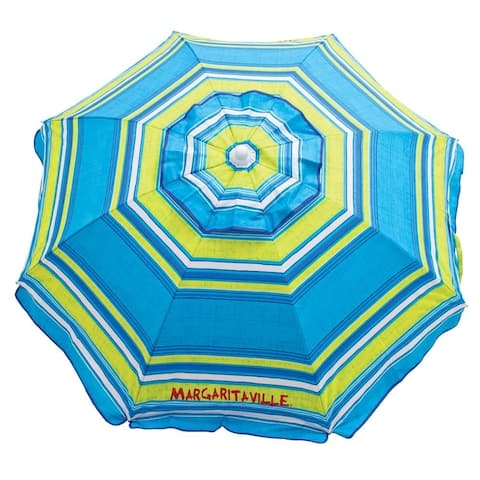 Margaritaville 6' Beach Umbrella with Built-In Sand Anchor