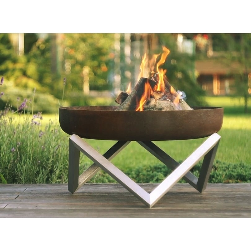 Memel Contemporary Fire Pit 25-31 (31 - Stainless Steel)