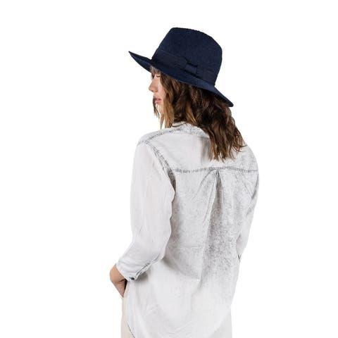 Women Floppy Sun Beach Straw Hats Wide Brim Packable
