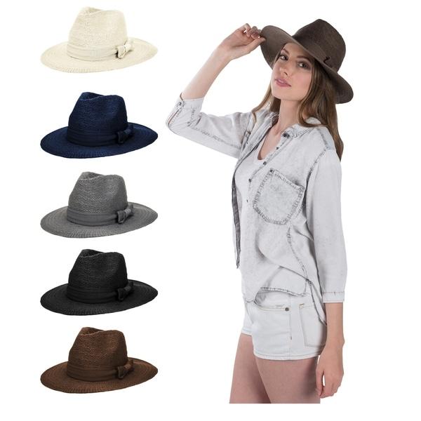 529965e9fc9dc Shop Women Floppy Sun Beach Straw Hats Wide Brim Packable - On Sale ...