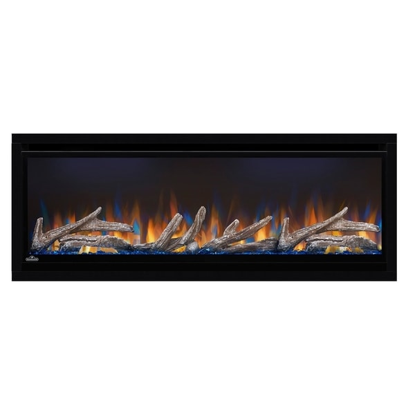 Alluravision Deep Depth 42-inch Wall Mount Electric Fireplace with Logs