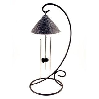 Slate Sprite Solar Powered Indoor Chimes (Dark Grey)
