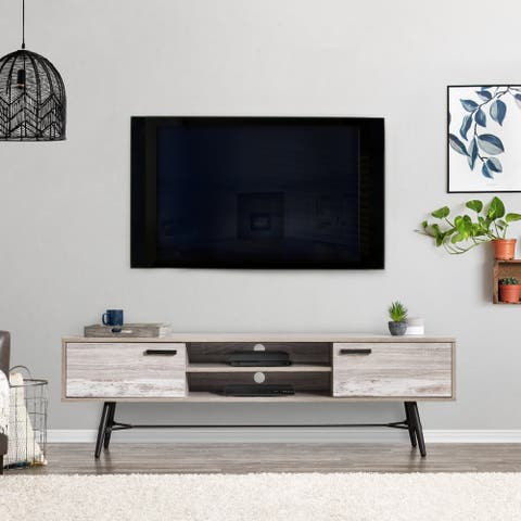 """CorLiving Aurora TV Bench with Splayed Legs, For TVs up to 85"""""""