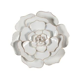 Carson Carrington Mjugg White Metal Flower Wall Art