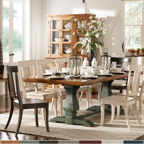 Eleanor Oak Finish 86-104 inch Dining Table with Leaf by iNSPIRE Q Classic