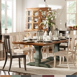 Link to Eleanor Oak Finish 86-104 inch Dining Table with Leaf by iNSPIRE Q Classic Similar Items in Dining Room & Bar Furniture