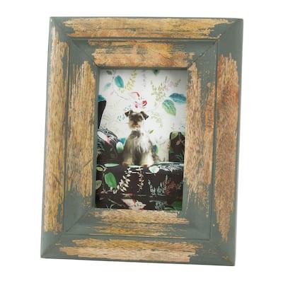 Saro Lifestyle Distressed Wood Design Photo Frame